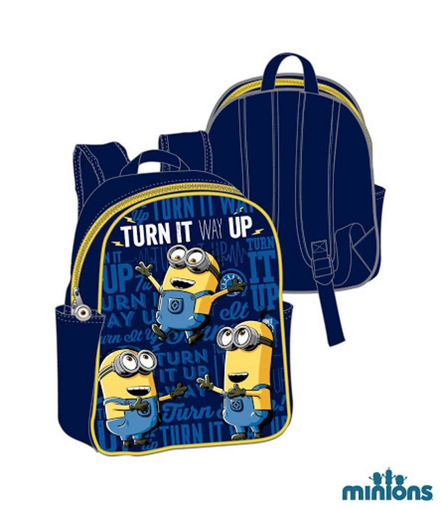 minions vorschul rucksack mit seitentaschen ebay. Black Bedroom Furniture Sets. Home Design Ideas